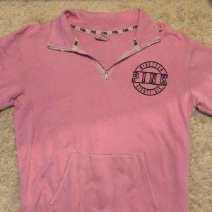 Pink quarter zip shirt
